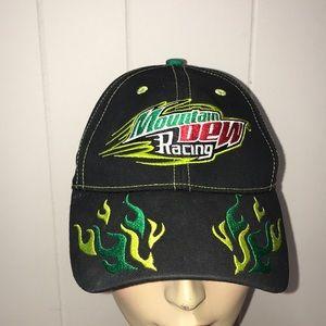 Men's mountain dew racing hat cap